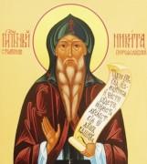 Рукописная икона Никита Переславский