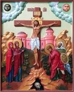 Резная икона Распятие Христа