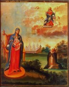 Рукописная икона Овиновская
