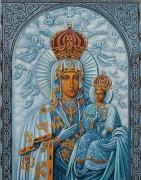 Рукописная икона Одигитрия Супрасльская