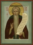 Рукописная икона Паисий Великий