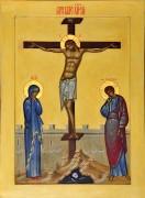Рукописная икона Распятие