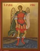 Рукописная икона Рафаил Архангел