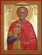 Рукописная икона Савва Стратилат