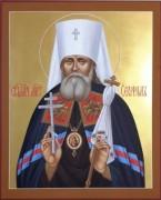 Рукописная икона Серафим Петроградский Священномученник
