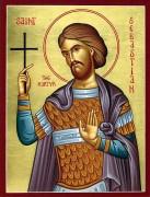 Рукописная икона Севастиан Римский