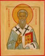 Рукописная икона Софроний Иерусалимский