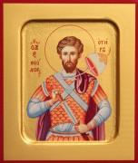 Рукописная икона Феодор Тирон