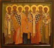Рукописная икона Херсонесские святители