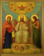 Рукописная икона Царь Царем