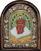 Икона из бисера Спорительница хлебов