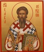 Рукописная икона Савва Сербский