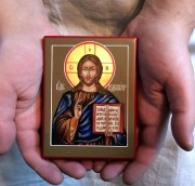 Рукописная икона Господь Вседержитель