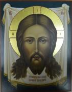 Рукописная икона Спас Нерукотворный