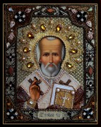 Икона Николай Чудотворец с окладом