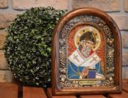 Икона из бисера Спиридон Тримифунтский 2