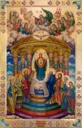 Рукописная икона Семи столбовая (Семистолпная)