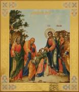 Рукописная икона Благословение детей