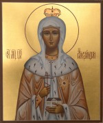 Рукописная икона Александра Федоровна