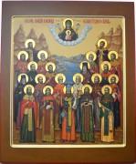 Рукописная икона Собор новомучеников Алтая