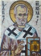 Икона из мозаики Николай Чудотворец