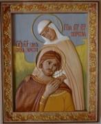 Резная икона Святых Петра и Февронии 5