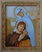 Резная икона Петра и Февронии Муромских