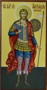 Рукописная икона Александр Невский 6*8 см