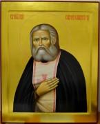 Рукописная икона Серафима Саровского