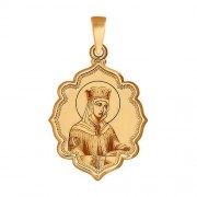 Золотая иконка царица Елена
