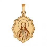 Золотая иконка великомученица Екатерина