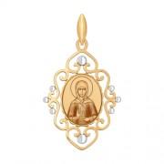 Золотая иконка Матрона Московская