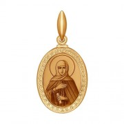Золотая иконка на шею святая Анна