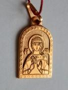 Золотая иконка на шею мученица Любовь