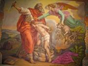 Рукописная икона Святой Авраам и Исаак