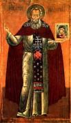Рукописная икона Святой Авраамий Городецкий