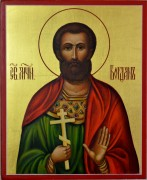 Рукописная икона Богдан мученик