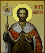Рукописная икона Александр Невский