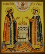 Рукописная икона Петра и Февронии 39