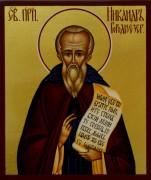 Рукописная икона Никандр Городноезерский