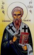 Рукописная икона Авксивий епископ Солийский
