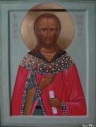 Рукописная икона Андрей Переславский