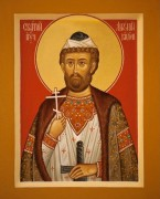 Рукописная икона Антоний Виленский