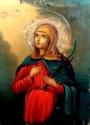 Рукописная икона Васса Алонская