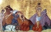 Рукописная икона Святой Агафоник Пергамский