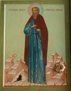 Рукописная икона Иларион Троекуровский Затворник