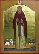Рукописная икона Иларион Псковоезерский