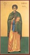 Рукописная икона Иоанн Кущник