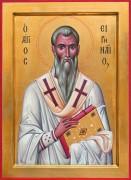 Рукописная икона Ириней Лионский