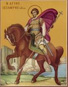 Рукописная икона Исидор Хиосский